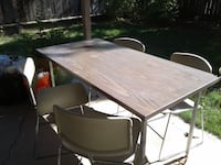 Table and 10 heavyweight matching office chairs $20 each all for $199.00