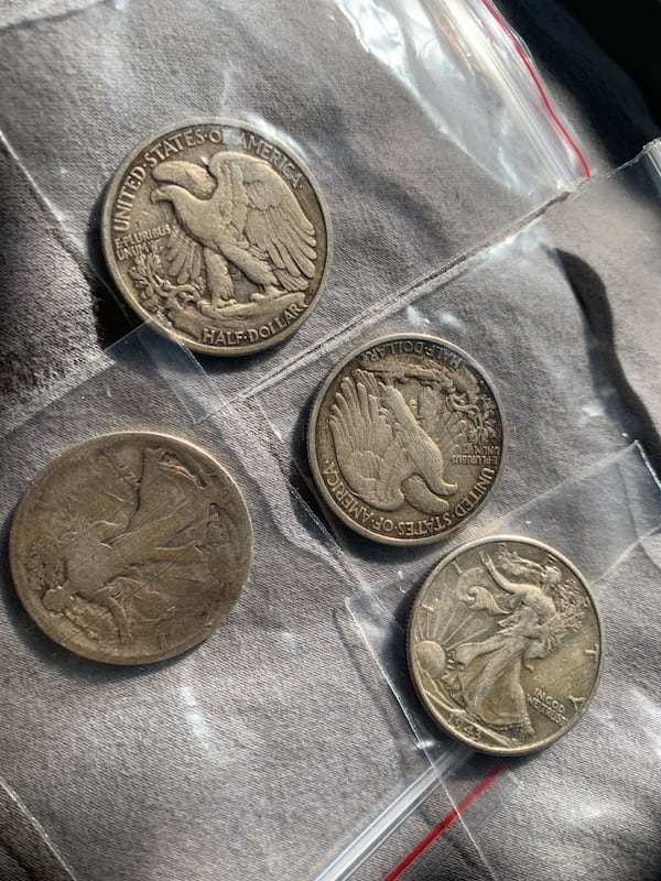 Four half dollar walking liberty coins 80beb184-a384-4bc9-8efb-6835ca2ed59e