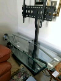 TV Stand - Black Steel and Glass Elkridge, 21075