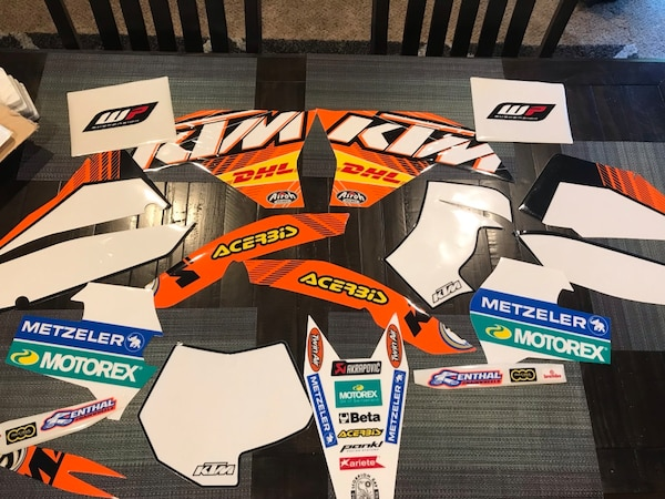 KTM dirt bike graphics kit