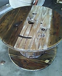 Refurbished wooden wire spool