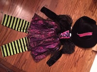 Halloween Costume - Witch with Hat - girl size 4-6 $20 Vaughan, L6A