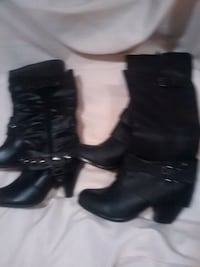 Two pairs of black boots  Ajax, L1S 5W5