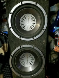 black and gray subwoofer speaker Albuquerque, 87120