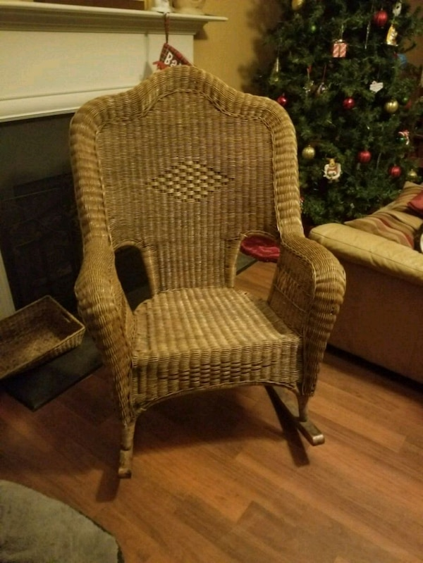 Magnificent Large Wicker Rocking Chair Dailytribune Chair Design For Home Dailytribuneorg