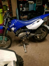 blue and white Yamaha motocross dirt bike San Diego, 92126