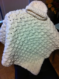 Brand New  hand knit cap and blanket set colour is white . Brampton, L6T 4S6