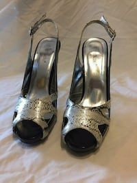 Black and silver faux snake heels Worcester, 01610