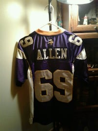 purple and white NFL jersey Hagerstown, 21740