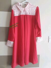 red and white long-sleeved dress Mississauga, L5B