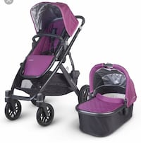 Uppababy Vista Stroller, Basinett, rain & insect shield - in excellent condition East Gwillimbury, L0G