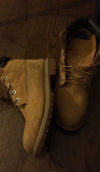 pair of brown leather work boots Rockville, 20851