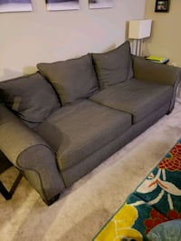 gray fabric 2-seat sofa North Bethesda, 20852