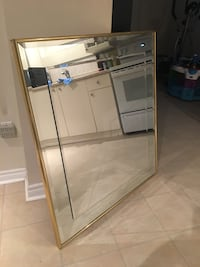 Mirror with gold frame Mississauga, L5E 1P1