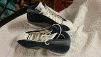 pair of white-and-blue Air Jordan shoes Houston, 77056