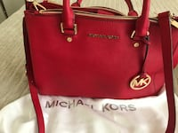 red Michael Kors leather tote bag Palmdale, 93552