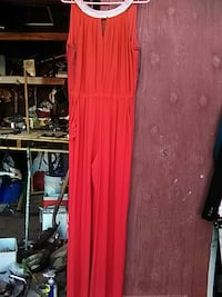 women's red cage neckline sleeveless maxi dress National City, 91950