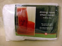 One Chair Cover Holiday Joy White PICK UP ORLAND PK Orland Park