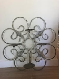 Wall Decor 4 candle cast iron wall sconce