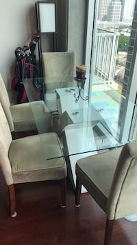 Glass dining table with 4 chairs Atlanta, 30363