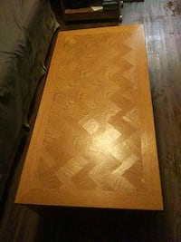Sturdy wooden coffee table