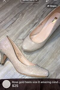 Rose gold heels size 8 amazing condition London, N5W 6E3
