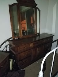 brown wooden dresser with mirror COLORADOSPRINGS