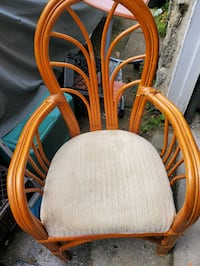 Four bamboo chairs