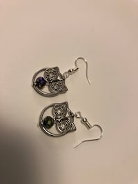 Hand crafted earrings. Stirling silver ear hooks   Leeds, 12451