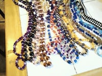 black, blue, and yellow beaded necklace Diamond, 44412