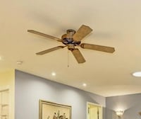 brown 5-blade ceiling fan Reston, 20191