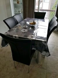 Dining table set (includes 6 chairs)