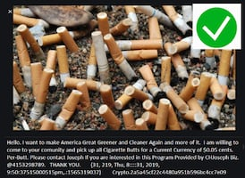 i will pick up ALL your cigarette butts