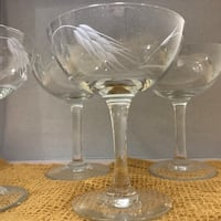 Set of 4 hand etched wheat stemmed glasses by Noritake Clarksville, 37042