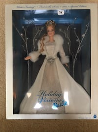 white dress Barbie Holiday Visions