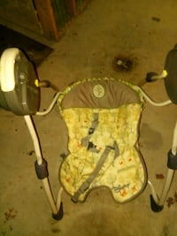 baby's brown and green swing chair 120 mi