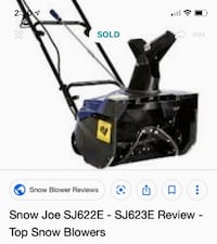 Electric snow blower brand new