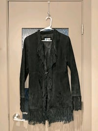 Suede leather black jacket with tassels Calgary, T2E 0B4