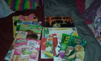 Set of coloring books. Common Core Math books. Story Books