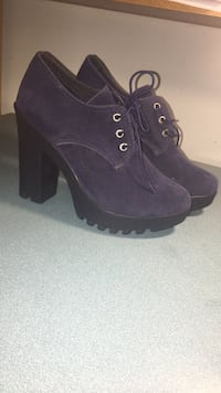 Pair of blue booties , new , size 38 St Catharines, L2T
