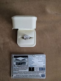 Tolkowsky ideal cut Wedding ring set / 3.18 tw