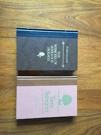 2 Readers Digest hard cover books The Adventures of Tom Sawyer and The Memories of Sherlock Homes