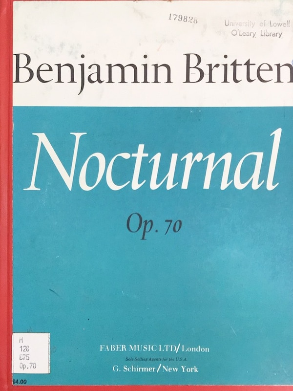 Benjamin Britten Nocturnal, after John Dowland. For Guitar