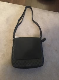 black and gray leather crossbody bag null, T0H 0W0