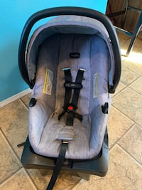 Infant car seats with base.