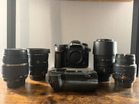 Nikon D7200 with charger grip and 4 lenses Ashburn, 20147