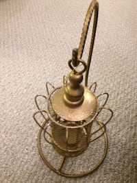 brass and brown metal table lamp Calgary, T2E
