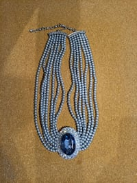 Vintage Rhinestone and Faux Pearl Necklace Vancouver, V6E 4M8