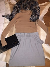 women's brown long-sleeved dress West Vancouver, V7S 1W3