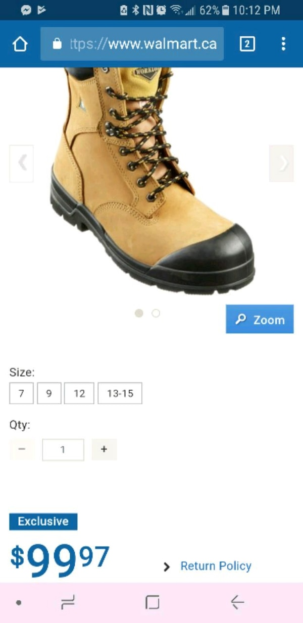 SIZE 10 STEEL TOES men